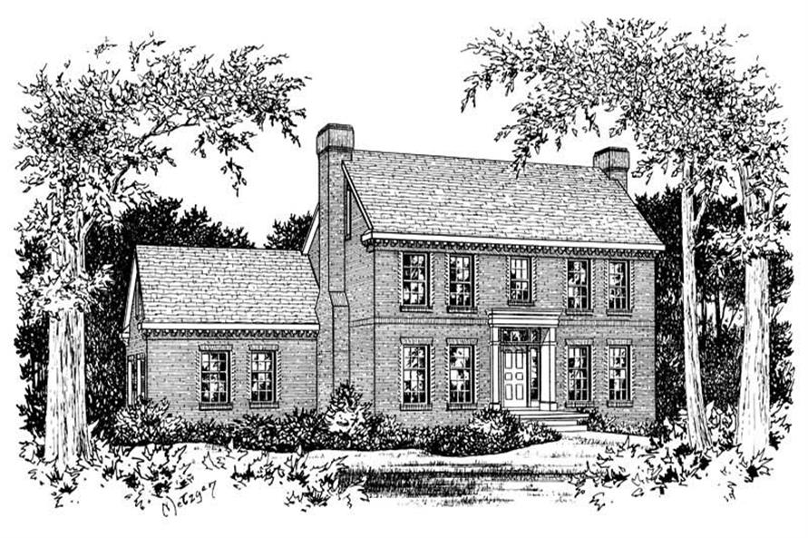 Home Plan Rendering of this 3-Bedroom,2020 Sq Ft Plan -120-1715