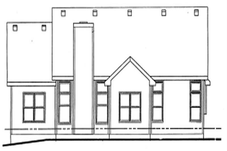 Home Plan Rear Elevation of this 3-Bedroom,1517 Sq Ft Plan -120-1719