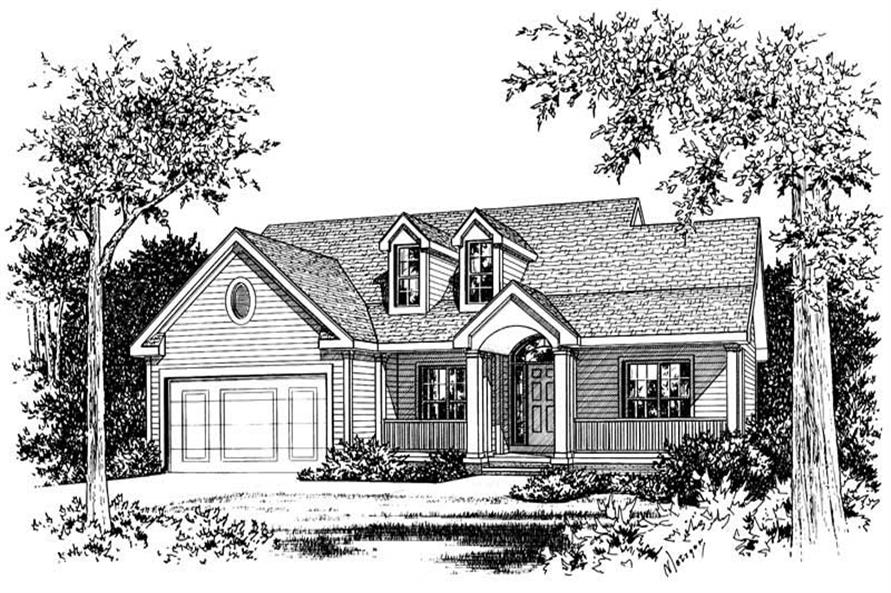 3-Bedroom, 1517 Sq Ft Small House Plans - 120-1719 - Main Exterior