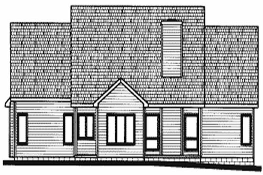 Home Plan Rear Elevation of this 3-Bedroom,2266 Sq Ft Plan -120-1723