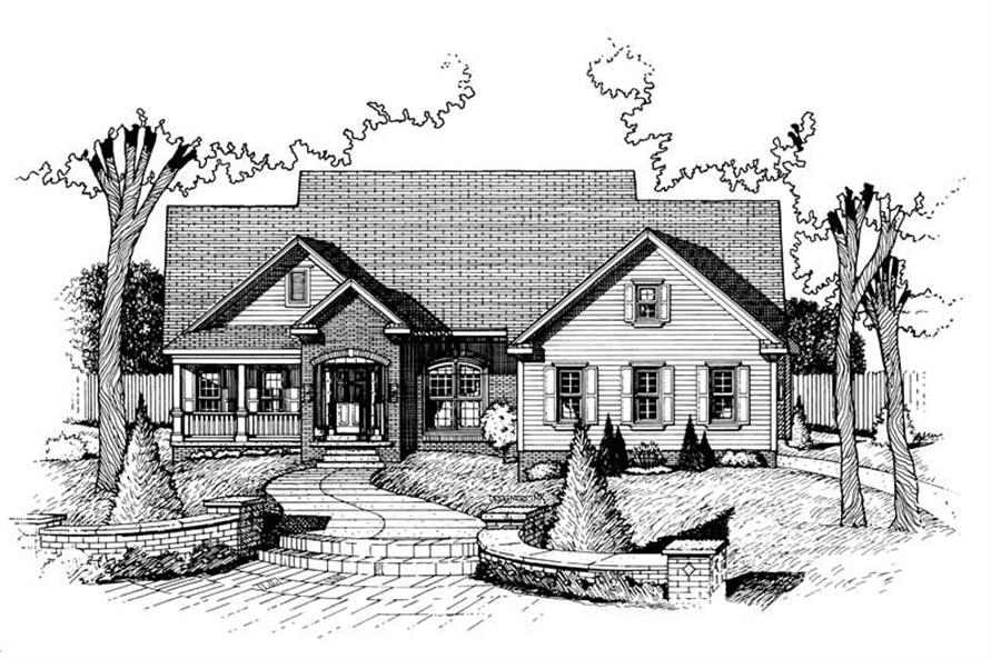 3-Bedroom, 2266 Sq Ft Country Home Plan - 120-1723 - Main Exterior