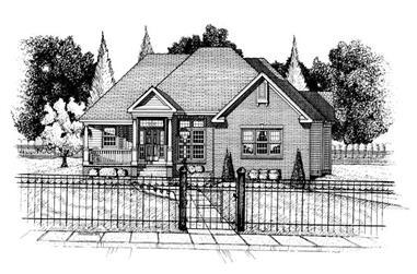 3-Bedroom, 1941 Sq Ft Ranch Home Plan - 120-1724 - Main Exterior