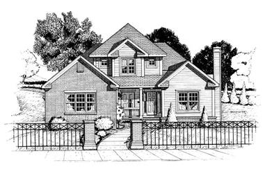3-Bedroom, 2059 Sq Ft Traditional House Plan - 120-1727 - Front Exterior
