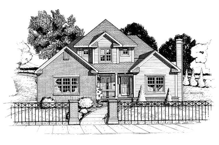 Main image for house plan # 5457