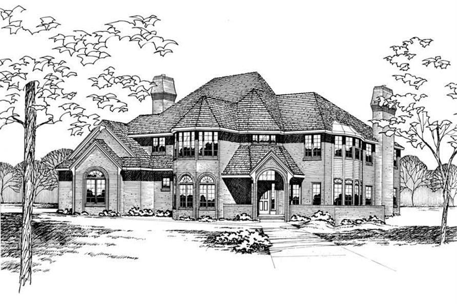 Front Elevation of this 4-Bedroom,3407 Sq Ft Plan -3407