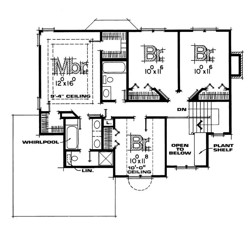 Upper Level Floor Plan