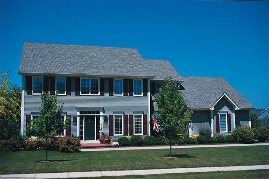 4-Bedroom, 2879 Sq Ft Colonial House Plan - 120-1738 - Front Exterior