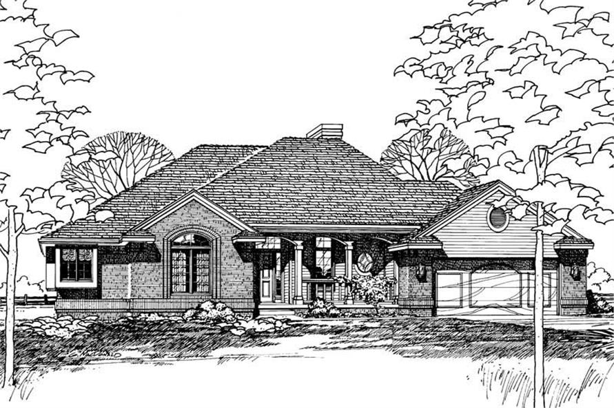 Home Plan Rendering of this 3-Bedroom,1808 Sq Ft Plan -120-1739