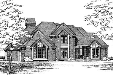 4-Bedroom, 2781 Sq Ft European House Plan - 120-1746 - Front Exterior