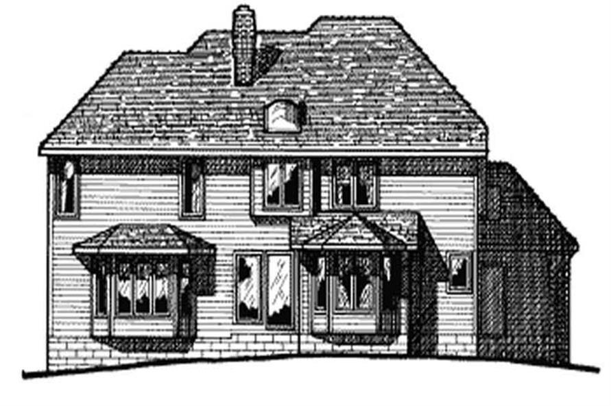 Home Plan Rear Elevation of this 4-Bedroom,3025 Sq Ft Plan -120-1749