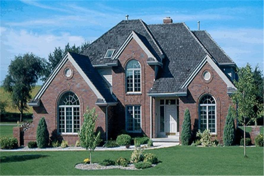 4-Bedroom, 3025 Sq Ft European House Plan - 120-1749 - Front Exterior