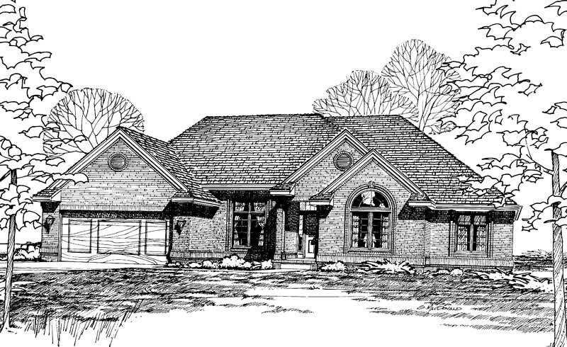 House Plan 120 1754 3 Bedroom 1996 Sq Ft Ranch Traditional Home Tpc