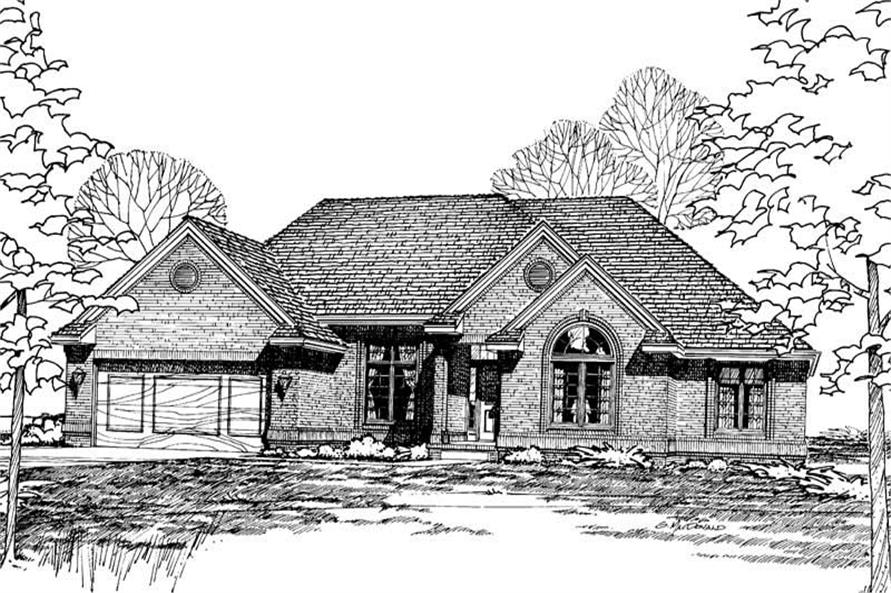 Front Elevation of this 3-Bedroom,1996 Sq Ft Plan -1996
