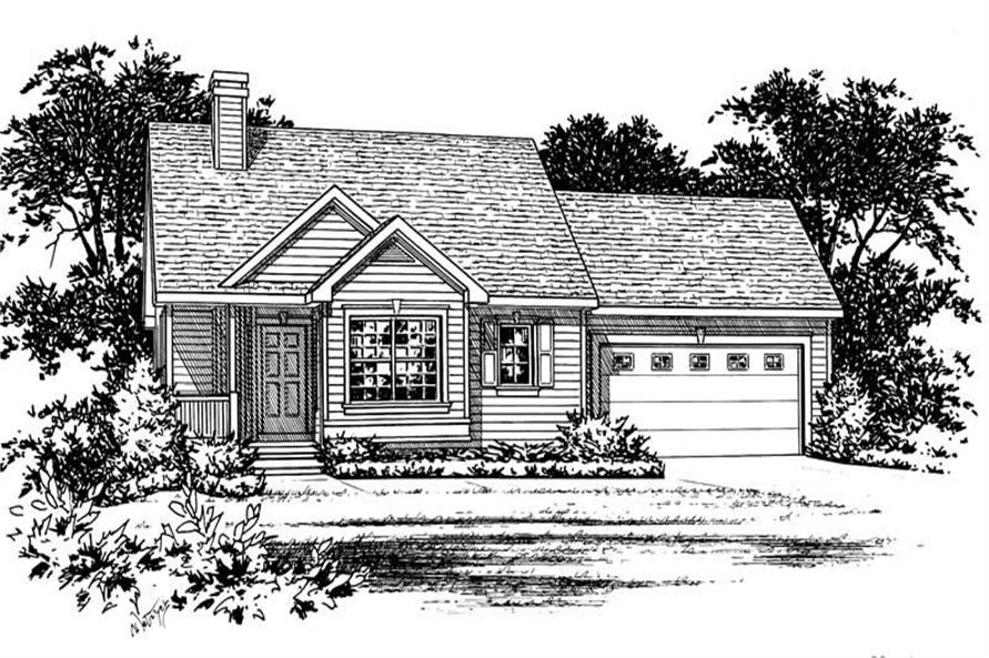 Home Plan Rendering of this 2-Bedroom,1190 Sq Ft Plan -120-1756