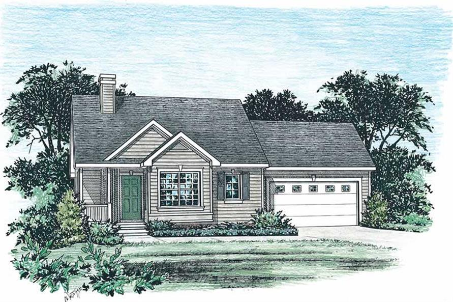 2-Bedroom, 1190 Sq Ft Small House Plans - 120-1756 - Front Exterior