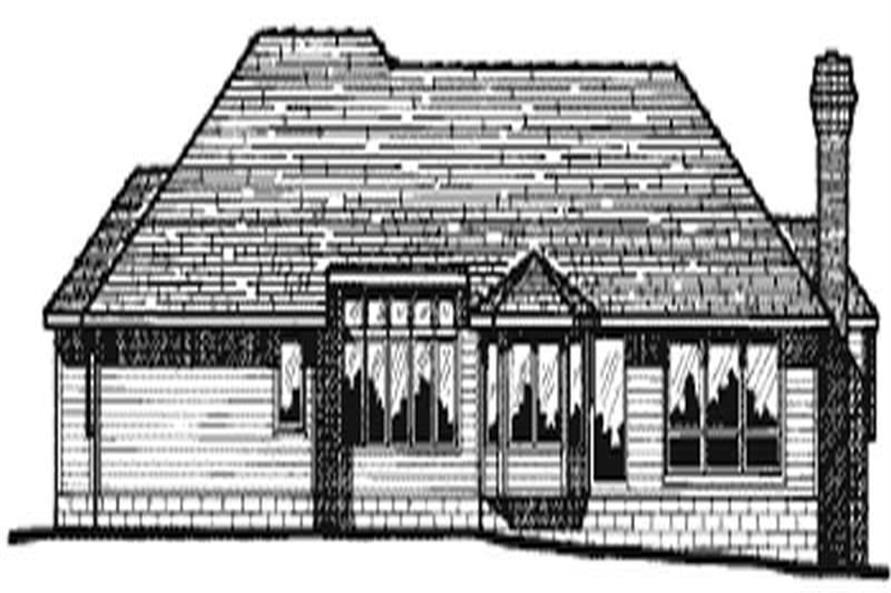 Home Plan Rear Elevation of this 3-Bedroom,2149 Sq Ft Plan -120-1767