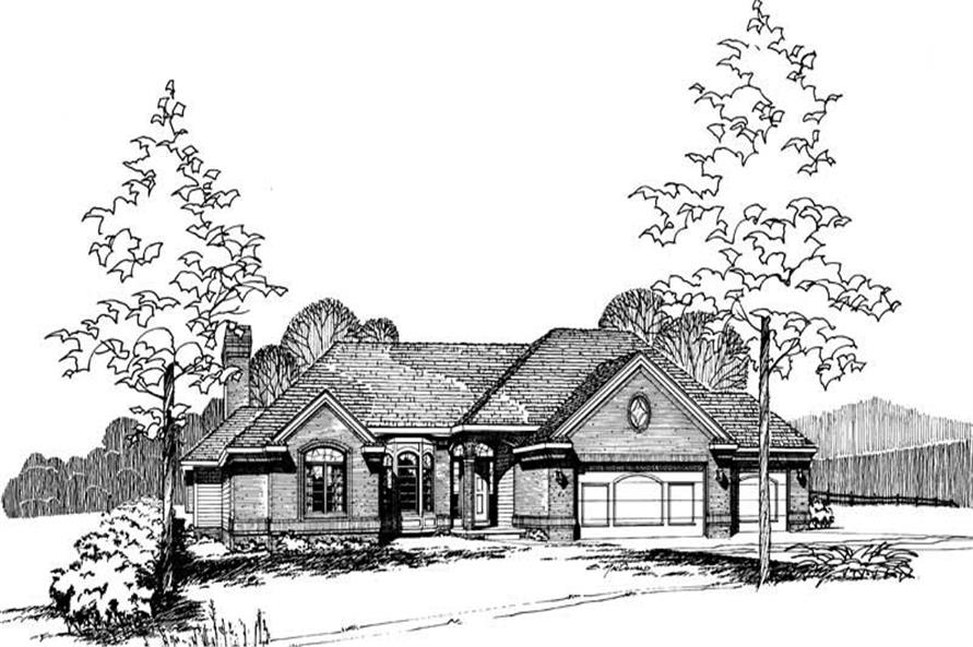 Main image for house plan # 5262