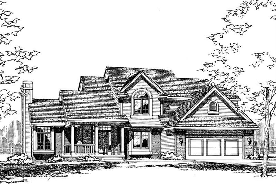 Home Plan Rendering of this 4-Bedroom,1931 Sq Ft Plan -120-1768