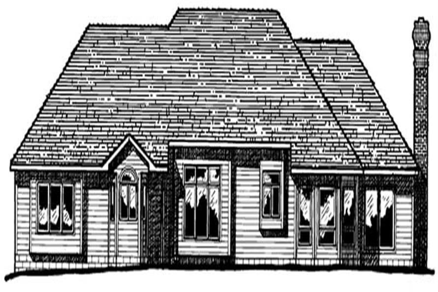 Home Plan Rear Elevation of this 4-Bedroom,2498 Sq Ft Plan -120-1769