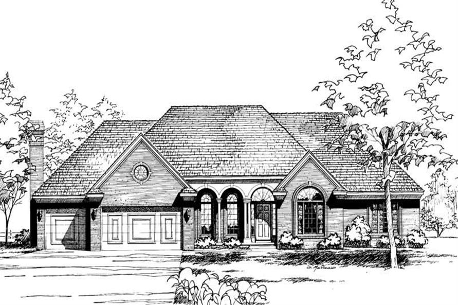 4-Bedroom, 2498 Sq Ft European House Plan - 120-1769 - Front Exterior