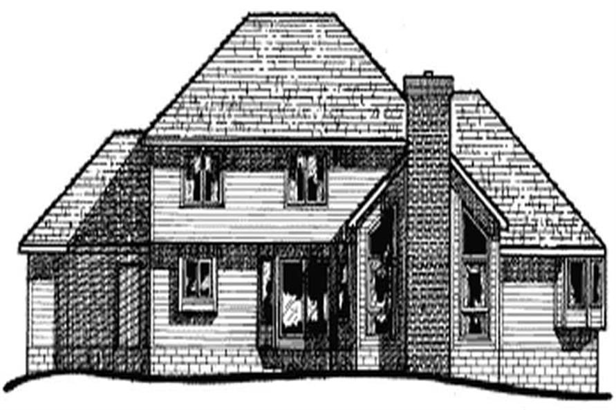 Home Plan Rear Elevation of this 4-Bedroom,2592 Sq Ft Plan -120-1774