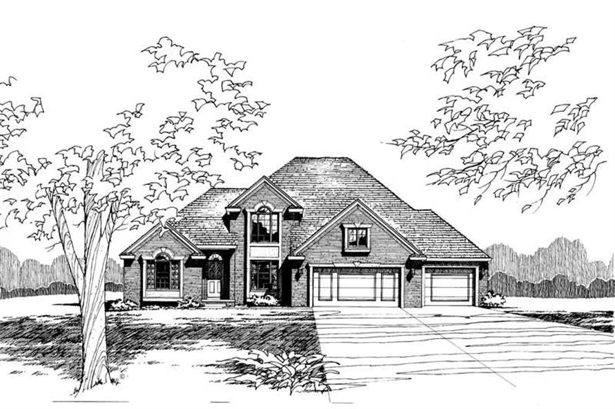 4-Bedroom, 2592 Sq Ft Traditional House Plan - 120-1774 - Front Exterior