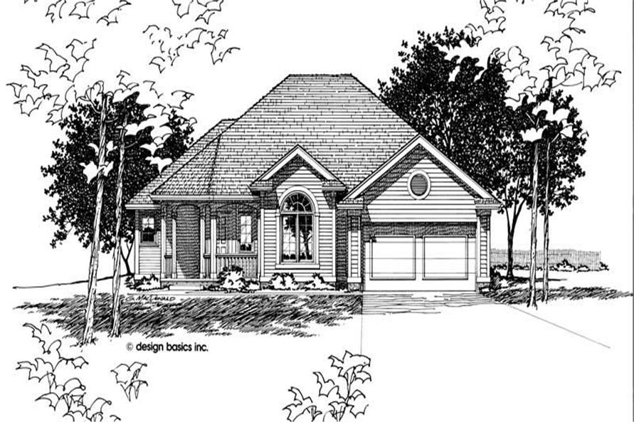 Front Elevation of this 3-Bedroom,1554 Sq Ft Plan -1554