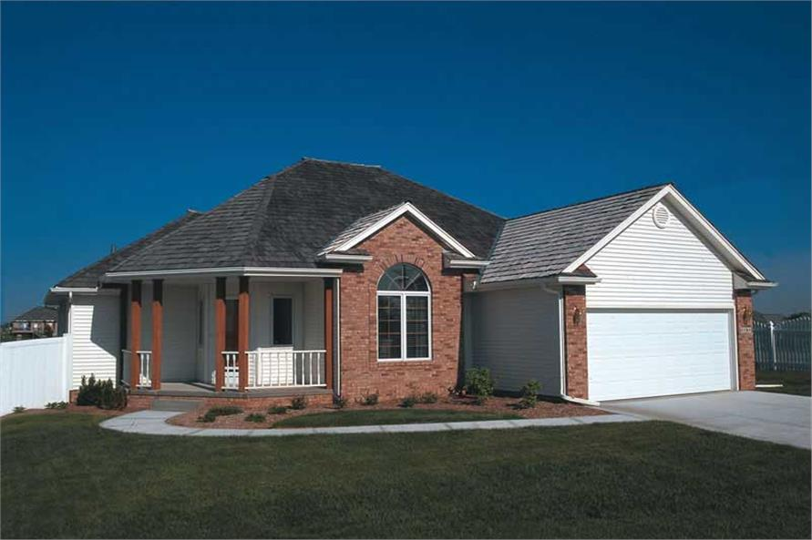 3-Bedroom, 1554 Sq Ft Small House Plans - 120-1788 - Front Exterior