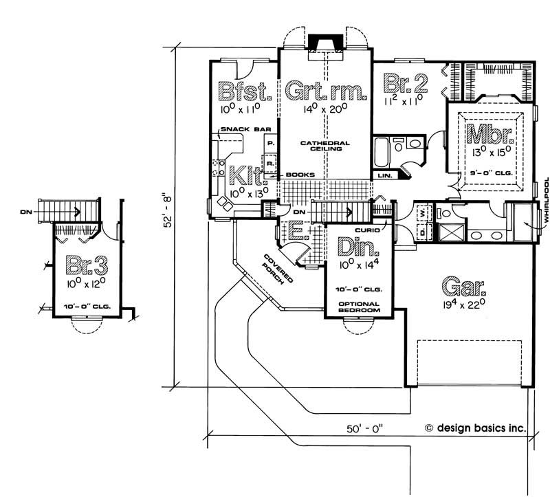 House plan 120 1788 3 bedroom 1554 sq ft small ranch for 120 square yards floor plan