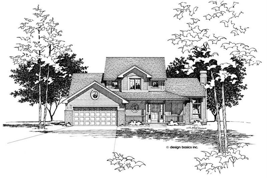 3-Bedroom, 1596 Sq Ft Small House Plans - 120-1789 - Front Exterior