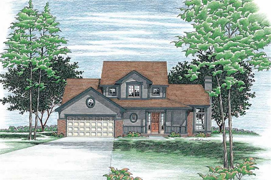 Home Plan Rendering of this 3-Bedroom,1596 Sq Ft Plan -120-1789