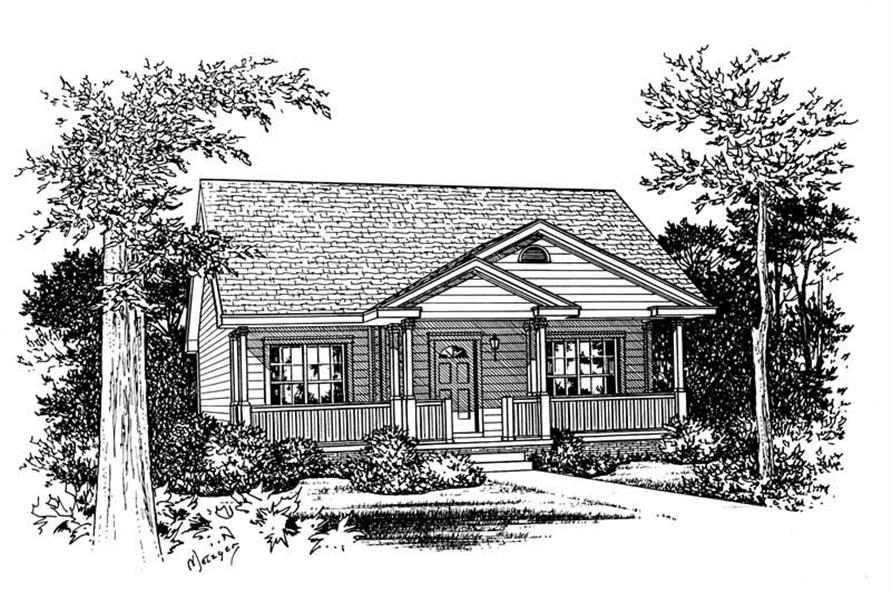 Home Plan Rendering of this 2-Bedroom,1142 Sq Ft Plan -120-1790