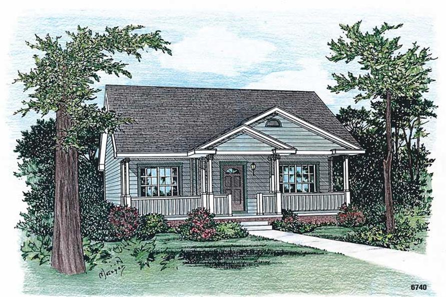 2-Bedroom, 1142 Sq Ft Small House Plans - 120-1790 - Front Exterior