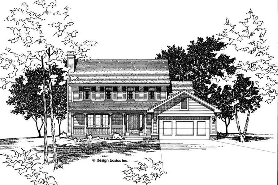 Home Plan Rendering of this 3-Bedroom,1700 Sq Ft Plan -120-1791