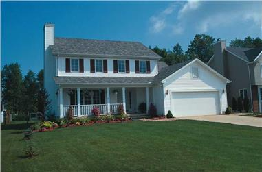 3-Bedroom, 1700 Sq Ft Country House Plan - 120-1791 - Front Exterior