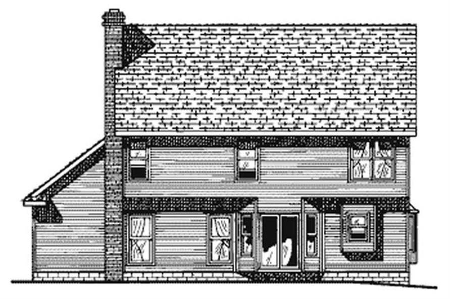 Home Plan Rear Elevation of this 4-Bedroom,2517 Sq Ft Plan -120-1792