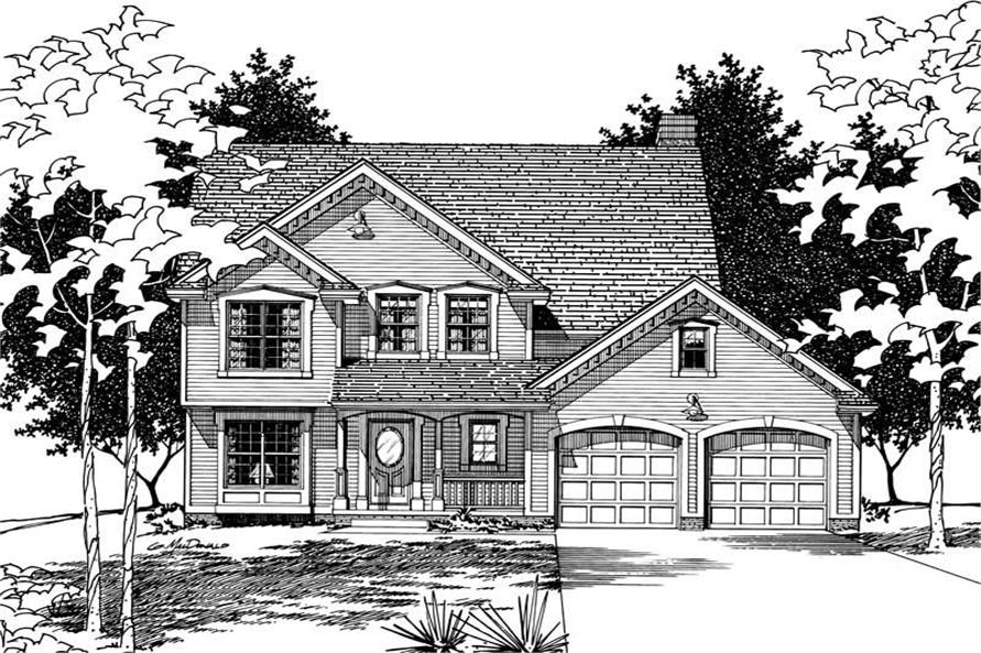 Home Plan Rendering of this 4-Bedroom,2517 Sq Ft Plan -120-1792