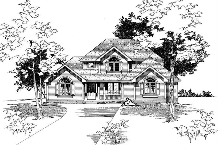 Home Plan Rendering of this 3-Bedroom,1712 Sq Ft Plan -120-1793