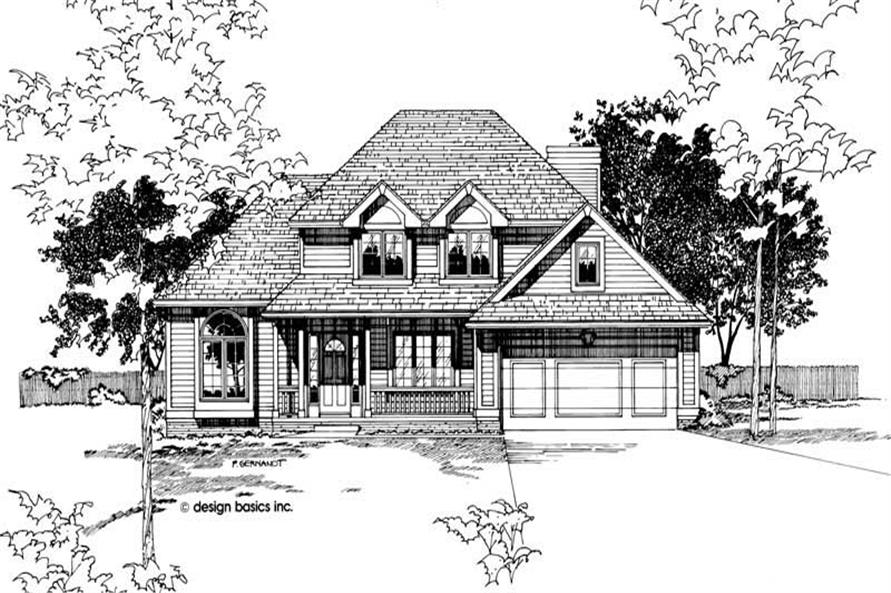 Home Plan Rendering of this 3-Bedroom,1798 Sq Ft Plan -120-1794