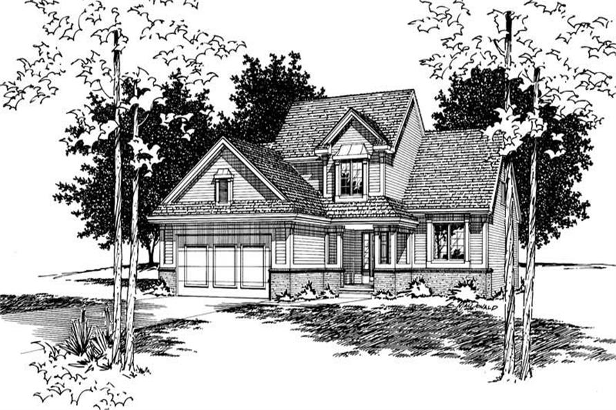 4-Bedroom, 2019 Sq Ft Traditional House Plan - 120-1795 - Front Exterior
