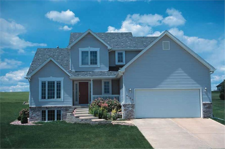 3-Bedroom, 1660 Sq Ft Small House Plans - 120-1803 - Front Exterior