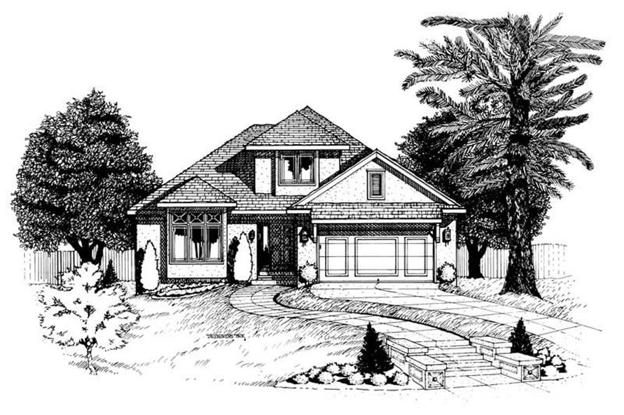 3-Bedroom, 1742 Sq Ft Small House Plans - 120-1805 - Main Exterior