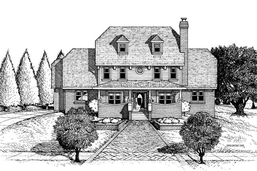 Home Plan Rendering of this 4-Bedroom,2752 Sq Ft Plan -120-1807