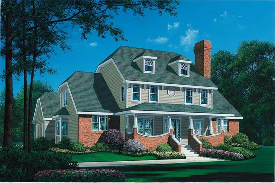 4-Bedroom, 2752 Sq Ft Colonial Home Plan - 120-1807 - Main Exterior