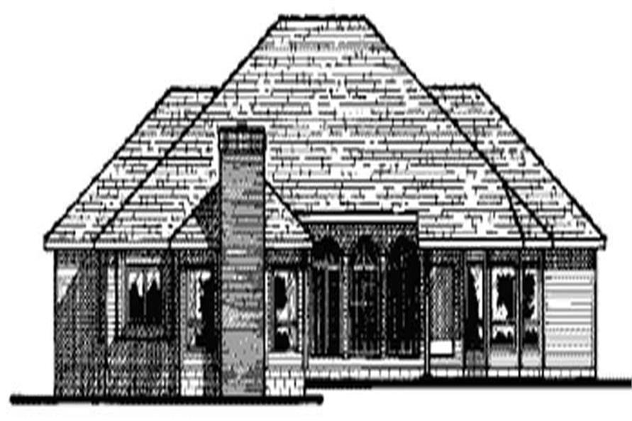 Home Plan Rear Elevation of this 3-Bedroom,2988 Sq Ft Plan -120-1816