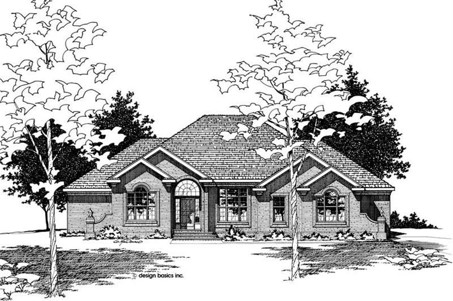Home Plan Rendering of this 3-Bedroom,2988 Sq Ft Plan -120-1816