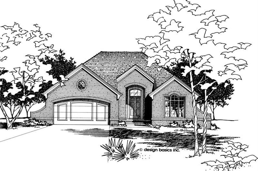 Home Plan Rendering of this 3-Bedroom,1478 Sq Ft Plan -120-1817