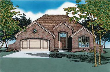 3-Bedroom, 1478 Sq Ft French Home Plan - 120-1817 - Main Exterior