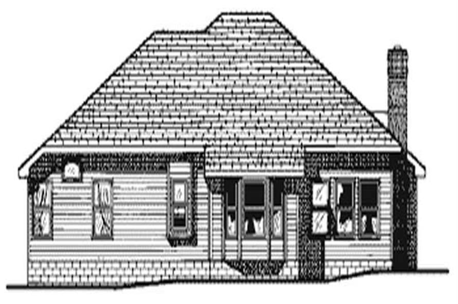 Home Plan Rear Elevation of this 3-Bedroom,1973 Sq Ft Plan -120-1826