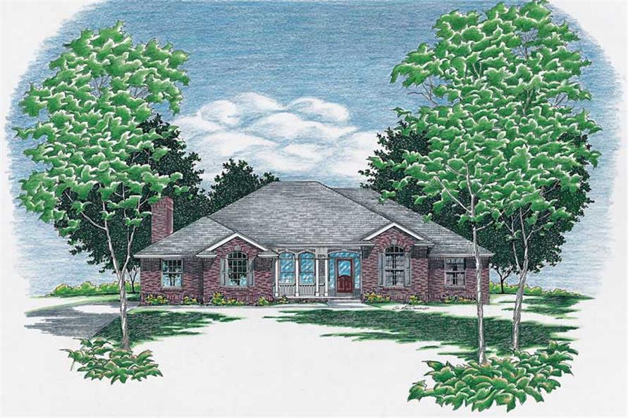 3-Bedroom, 1973 Sq Ft Country Home Plan - 120-1826 - Main Exterior